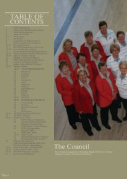 TABLE OF CONTENTS The Council - Golf NSW