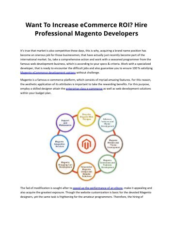 Want To Increase eCommerce ROI? Hire Professional Magento Developers