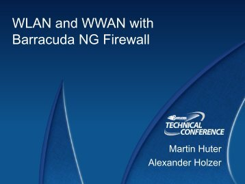 WLAN and WWAN with Barracuda NG Firewall - Barracuda UK ...