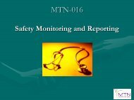 Safety Monitoring and Reporting