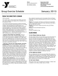Group Exercise Schedule January 2013 - YMCA of San Francisco