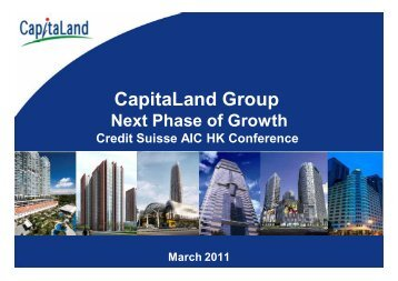 "CL: Presentation slides ""CapitaLand Group Next Phase of Growth"""