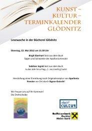 Kunst – Kultur – Terminkalender Glödnitz - Mein Klagenfurt