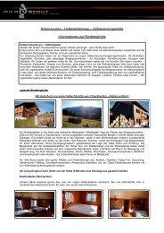 Informationen Rindberghütte - Wild Scout