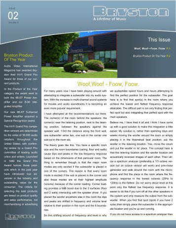 Volume 3, Issue 2 - Bryston