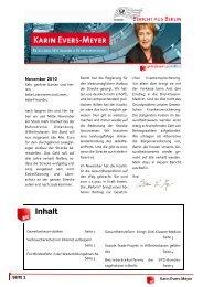 Bericht aus Berlin November 2010 - Karin Evers-Meyer