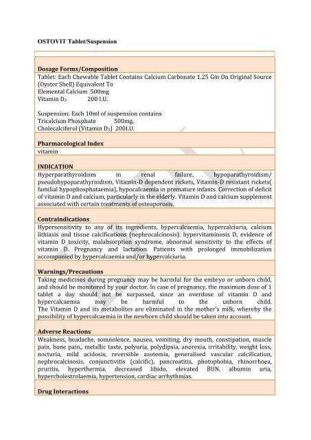 ostovit susp  - Lomus Pharmaceuticals Pvt  Ltd