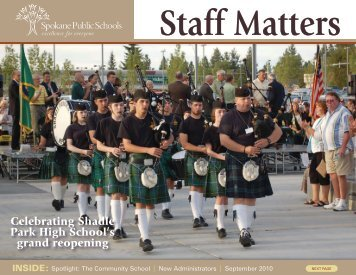 September 2010 - Spokane Public Schools
