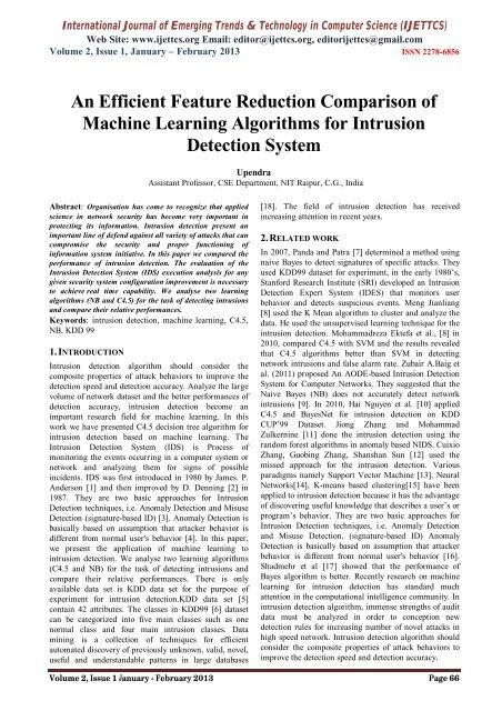 An Efficient Feature Reduction Comparison of Machine