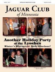 Spring Quarter Newsletter - April, 2007 - Jaguar Club of MN