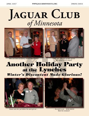 Spring Quarter Newsletter - April, 2007 - Jaguar Club of MN