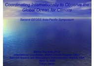 Coordinating Internationally to Observe the Global Ocean for Climate