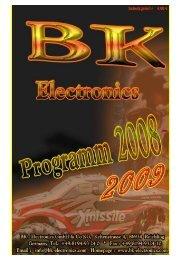 Liebe Kunden und Interessenten - BK-Electronics