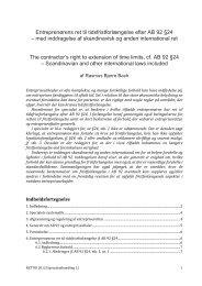 Entreprenørens ret til tidsfristforlængelse efter AB 92 §24 – med ...