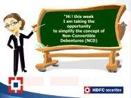 NCD - HDFC Securities
