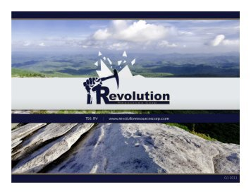 Forward Looking Statements - Revolution Resources Corp.