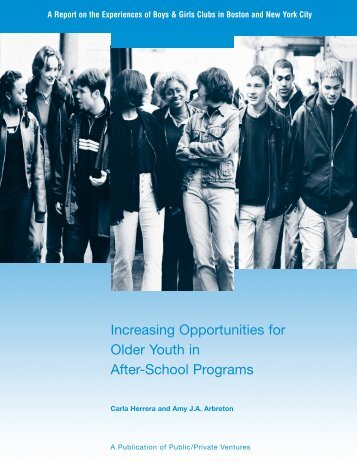 Increasing Opportunities for Older Youth in After-School Programs