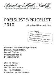 Preisliste 2010 - Bernhard Halle