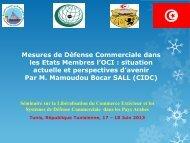Mesures de Défense Commerciale dans les Etats Membres l ... - ICDT