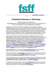Pressemitteilung mit Links als pdf - Fünf-Seen-Filmfestival