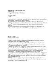Studij:STOMATOLOGIJA III DIO Semestar:IV Kolegij:PSIHOLOÅKA ...