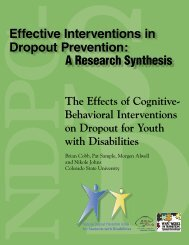 The Effects of Cognitive-Behavioral Interventions on Dropout for ...