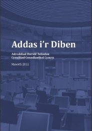 Adroddiad - National Assembly for Wales