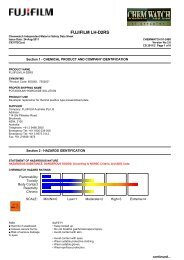 Chemwatch Australian MSDS 01-2498 - FUJIFILM Australia