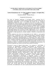 Corte di Cassazione, sez. III Civile, sentenza n. 15394/11 - Rdes.it
