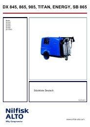 DX 845, 865, 985, TITAN, ENERGY, SB 865 - Wap Nilfisk Alto Shop