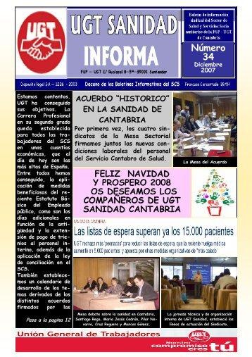 Boletin Nº 34 Diciembre - Sanidad en UGTCantabria
