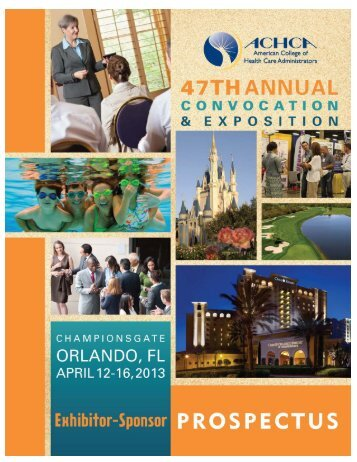 Sponsorship & Marketing Opportunities - ACHCA