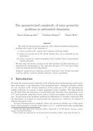 The parameterized complexity of some geometric problems in ...