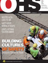 building cultures of safety building cultures of safety - Safety Institute ...