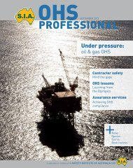 OHS professional - Safety Institute of Australia