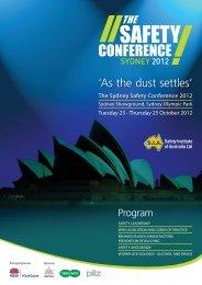 Program - Safety Institute of Australia