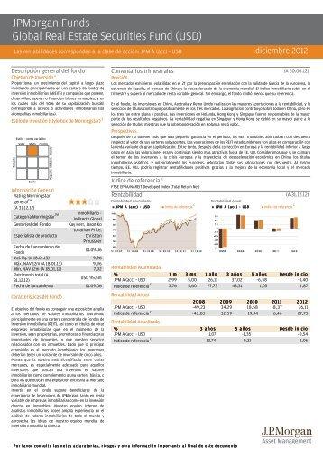 JPMorgan Funds - Global Real Estate Securities Fund ... - Self Bank