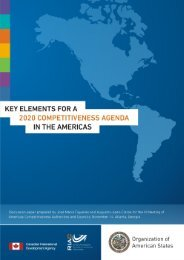 key e lements for a 2020 competitiveness a gend a in the a meric as