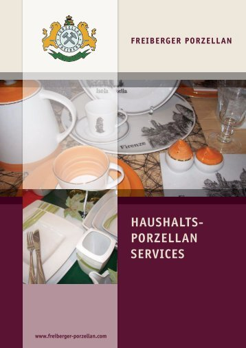 HAUSHALTS- PORZELLAN SERVICES - Freiberger Porzellan