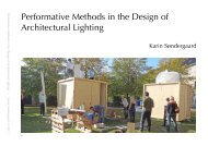 Performative Methods in the Design of Architectural Lighting - Lysnet