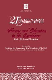 Slavery and Education in the Caribbean: - Central Bank of Trinidad ...
