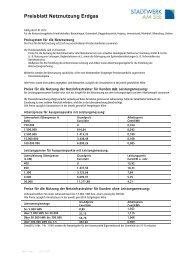 gültig ab 01.01.2012 - Stadtwerk am See