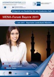 Flyer Mena-Forum 2011 - Außenwirtschaftszentrum Bayern