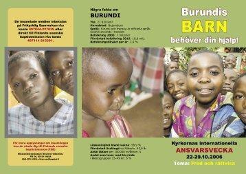 Burundis - Finlands svenska baptistmission