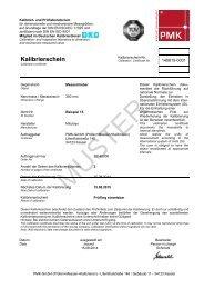 ISO-Kalibrierschein - PMK - GmbH
