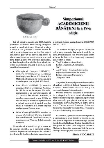 Revista Coloana Infinitului nr. 65 - Brancusi