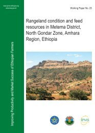 Rangeland condition and feed resources in Metema District, North ...