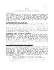 540 HIRING GUIDELINES FOR EMPLOYMENT OF TEACHERS ...