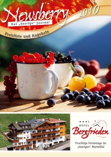 Preisliste und AAngebote Fruchtige Ferientage im