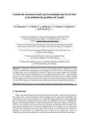 Calculs de structures basés sur la technique des ... - ResearchGate